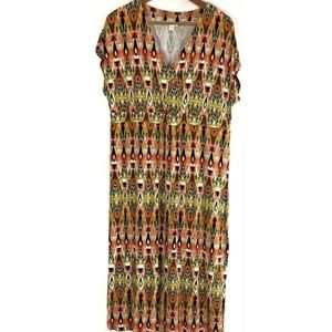 J Jill Womens Dress Sz LP Empire Waist Cap Sleeve